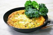 Kale and goat's cheese frittata