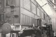 RESTORATION WORK: York railway employees busy restoring an old coach on January 17, 1972