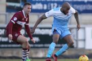 DREAD LETTER DAY: Emile Sinclair battles in vain against Northampton, where City were soundly beaten