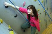 ON THE UP: York climber Sianagh Gallagher