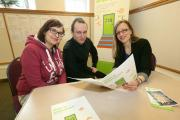 Job Club manager Tess Sherratt (right) with Christine Young and Edward Fritz who have both found work through the Gateway Centre. Picture: Richard Doughty