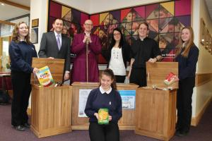 York school sets up a foodbank donation point  in their reception