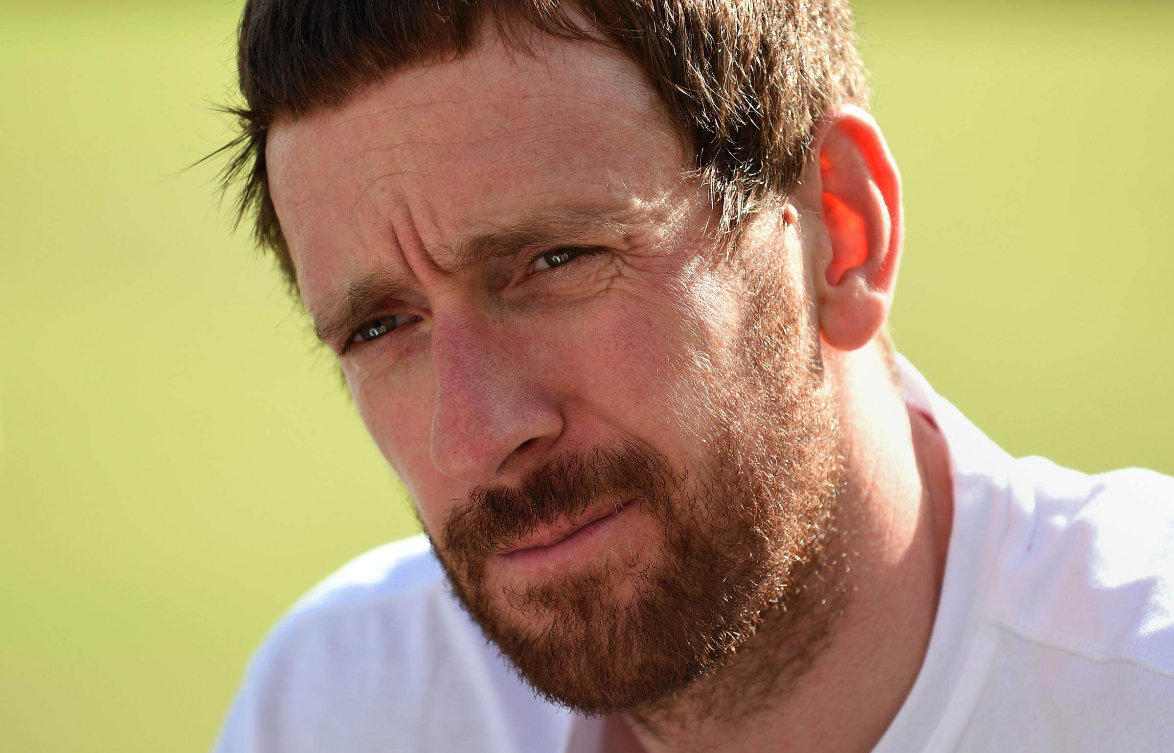 Sir Bradley Wiggins during a press conference in Glasgow