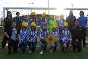 HATS OFF: York Railway Institute Under-12 girls with their Marie Curie kit