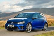 Finished in deep blue and on19-inch wheels, the Golf R looks smart and sporty without being garish