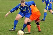 Pickering Town top scorer Billy Logan, who scored a valuable leveller, again pesters the Athersley defence