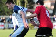 FIVE ALIVE: Tadcaster Albion striker Calum Ward was among the marksmen as the Ings Lane outfit kept alive their slim hopes of snatching the Northern Counties East League premier division title with a 5-0 midweek win