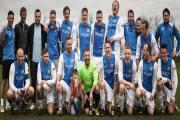 SKY BLUE HEAVEN: Cliffe celebrate winning the York Sunday Morning Football League division three title