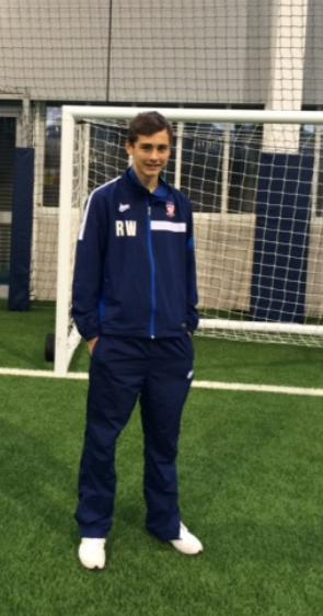 TALK OF THE CITY: York City under-15s goalkeeper Ryan Whitley, pictured during his day's training with Manchester City, has been invited to an England training camp at St George's Park this month