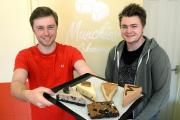 Brothers Oliver, left, and Harry Webb launch their new business Munchies Cakeaway in York                     Picture: Anna Gowthorpe