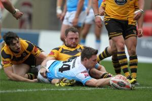 York City Knights sail into round six of Ladbrokes Challenge Cup with 44-14 win at Leigh Miners Rangers