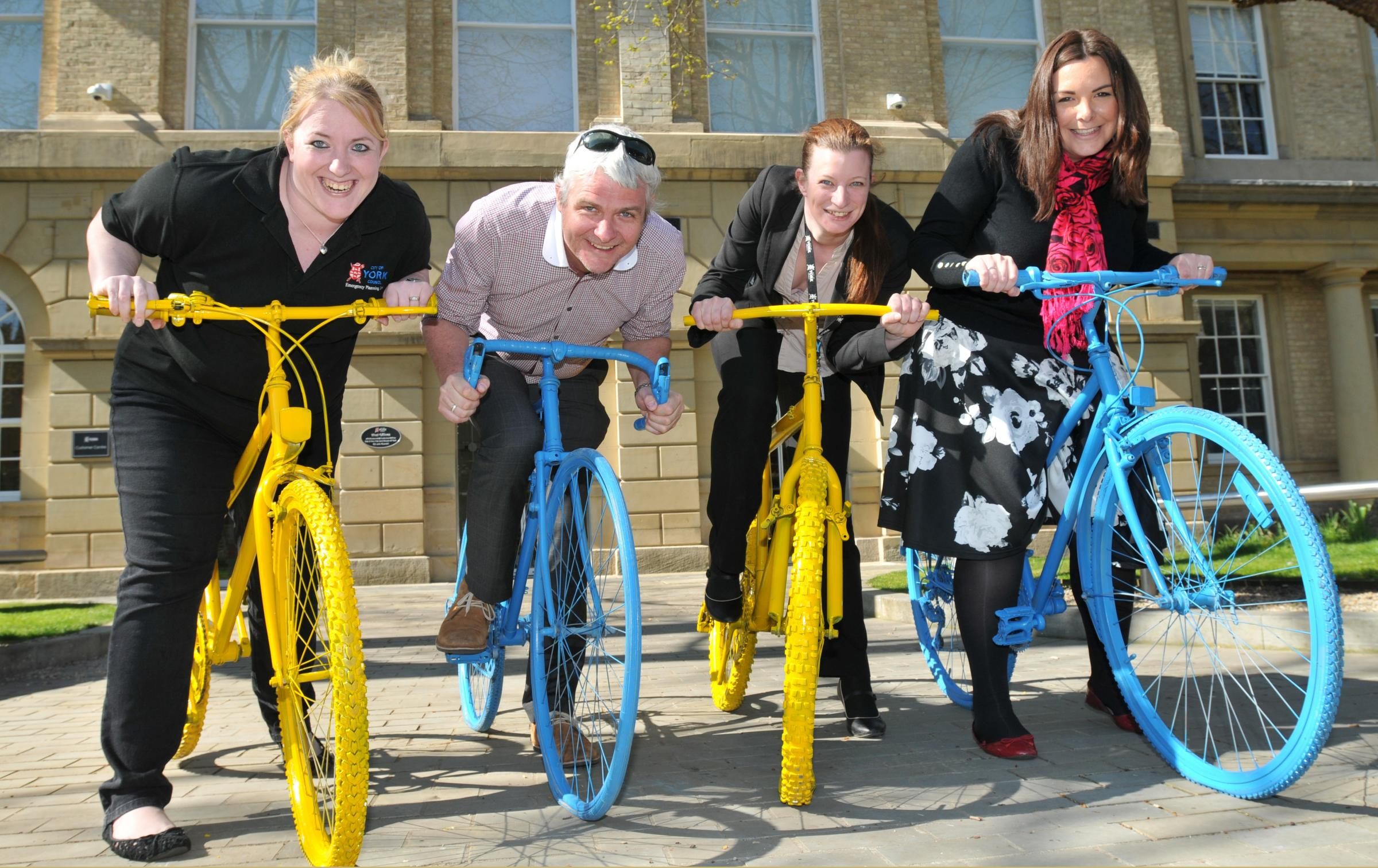 The Tour de Yorkshire project team, from left, Katie Fisher, Stuart Gladstone, Rianca Vogels and Laura Haviland