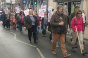 Hundreds join anti-fracking march in Malton
