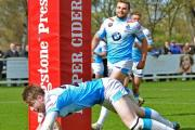 York City Knights' Jack Aldous beats his man in the win over Coventry BearsPicture: David Harrison (24339091)