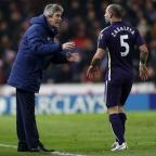 York Press: Pablo Zabaleta, right, does not think it is fair to blame manager Manuel Pellegrini for all Manchester City's failings
