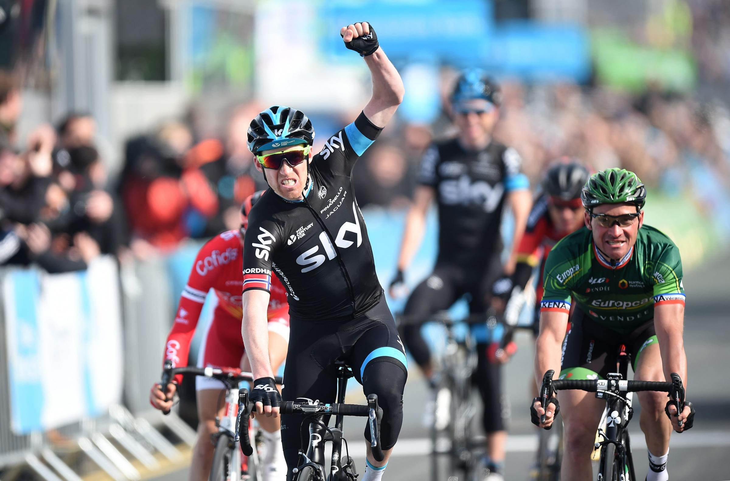 Norwegian Lars Petter Nordhaug wins stage one of the Tour de Yorkshire
