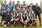 TROPHY TRIUMPH: Dunnington celebrate winning the York Sunday Morning Football League Challenge Trophy after a 2-1 final win over Wigginton Grasshoppers