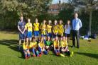 All Saints School Under-16s girls are pictured following their County Cup triumph