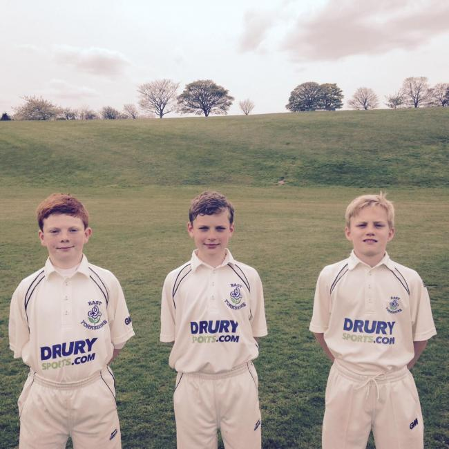 Pocklington Cricket Club juniors, from left, Oliver Spicer, Harry Jackson and Ted Baty, plus Tom Kirby, who is not pictured, have been selected by East Yorkshire