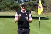 SHOT IN A MILLION: Neil Ferguson after hitting a hole in one at the 11th hole at York Golf Club