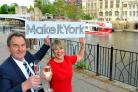 Jane Lady Gibson, chair, Make It York, and Steve Brown, managing director, at the Make It York launch