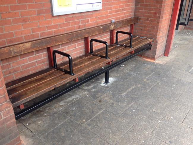 One of the benches in Rougier Street
