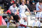 WELSH DRAGON: Tomas Francis makes a tackle for his club side Exeter Chiefs