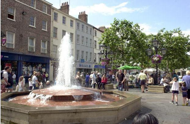 The fountain, pictured in the days when it was working