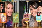 Bar staff Jo Clark and Emma Carmichael prepare for the Brew Off at The Duke of York. Picture: Frank Dwyer