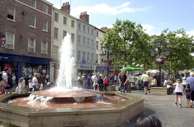 The fountain in Parliament Street, York