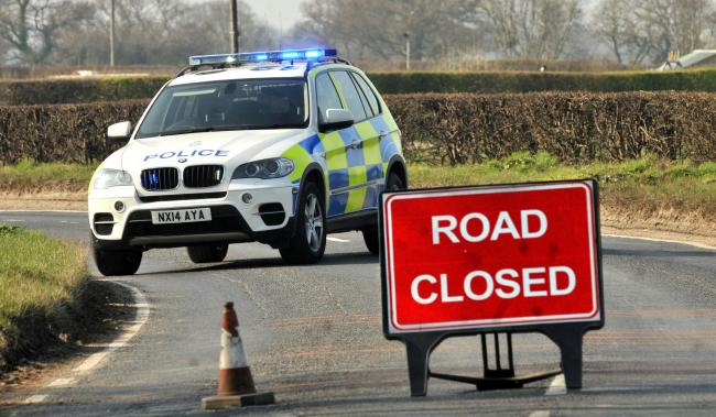 Major road shut due to accident