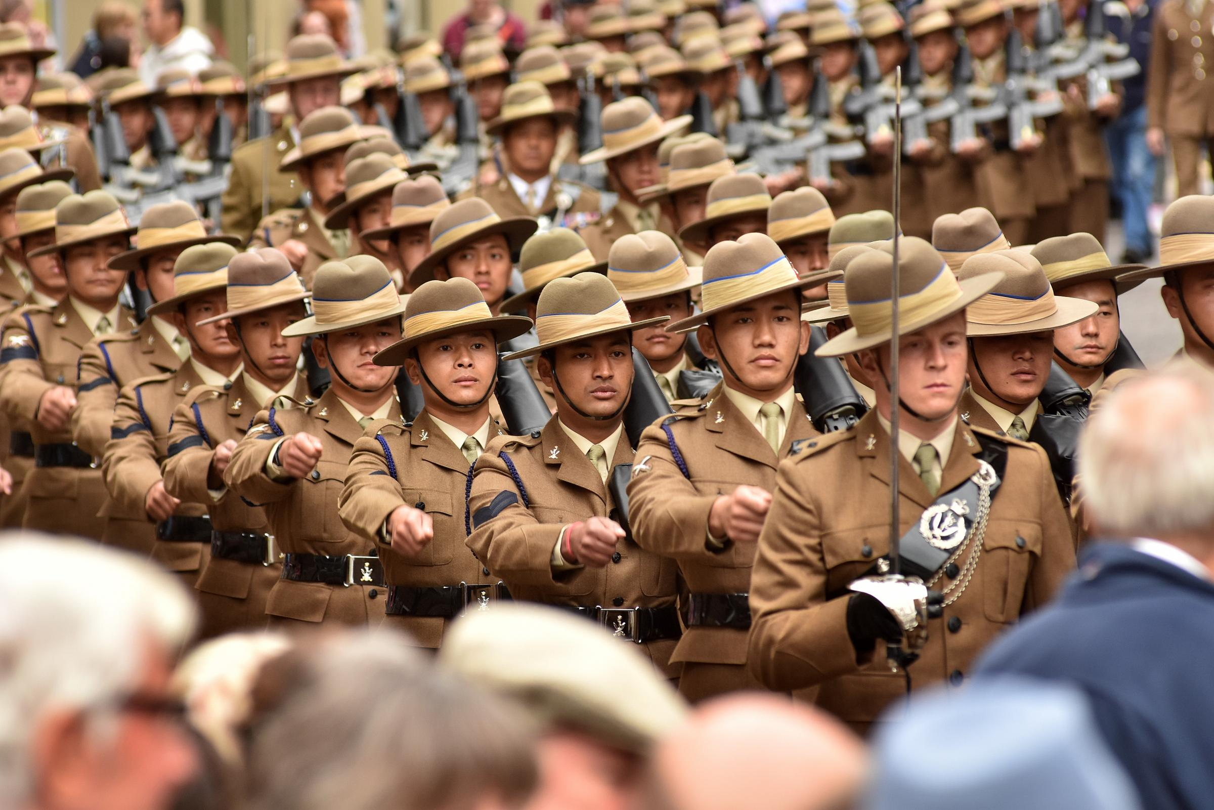 Gurkhas parade through York