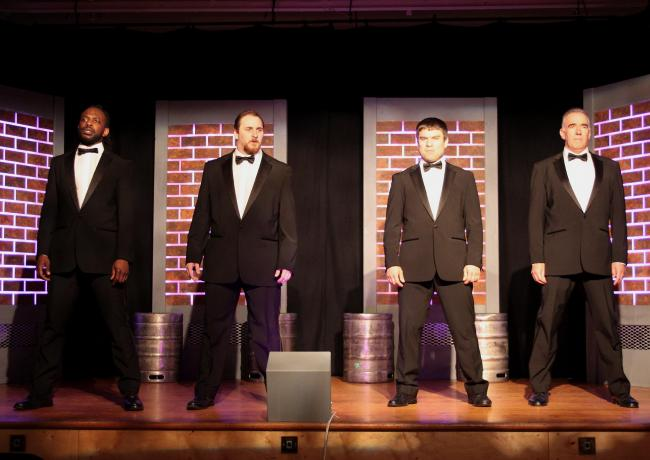 Esk Valley Theatre's cast for Bouncers