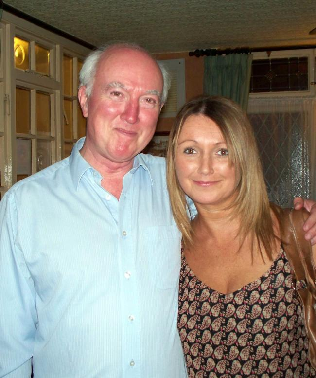 Peter Lawrence with his daughter Claudia, who went missing in 2009.