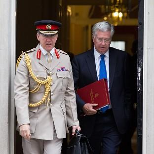 York Press: Michael Fallon (right) defended Sir Nicholas Houghton against charges of political bias