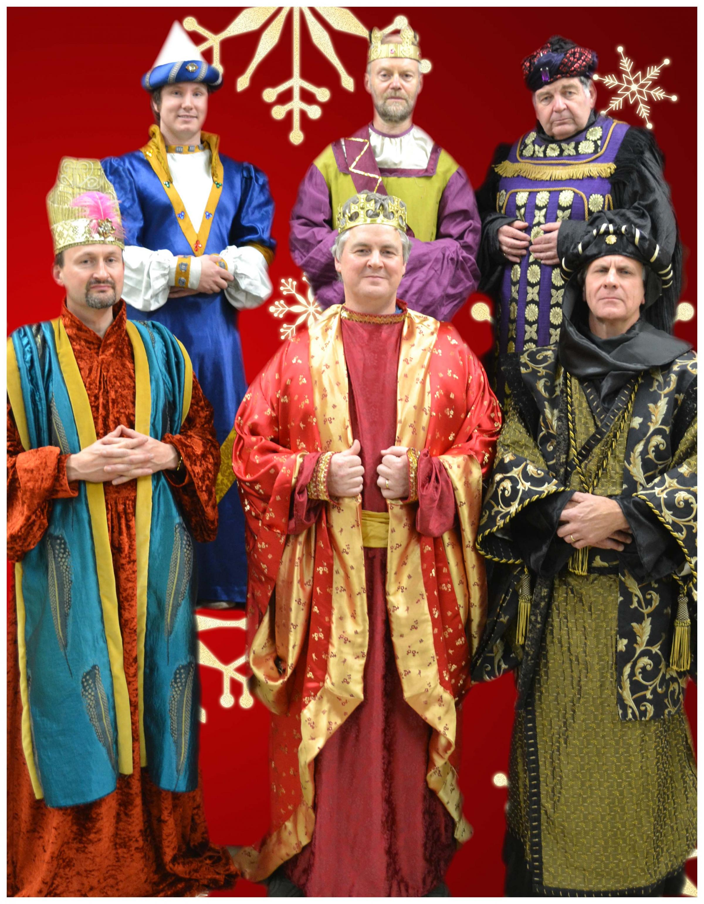 The six kings in York Opera's brace of Nativity performances. Top, from left, Michael Foster, Peter Burgess and Ian Small; bottom, Hamish Brown, Ian Thomson-Smith and Duncan Campbell