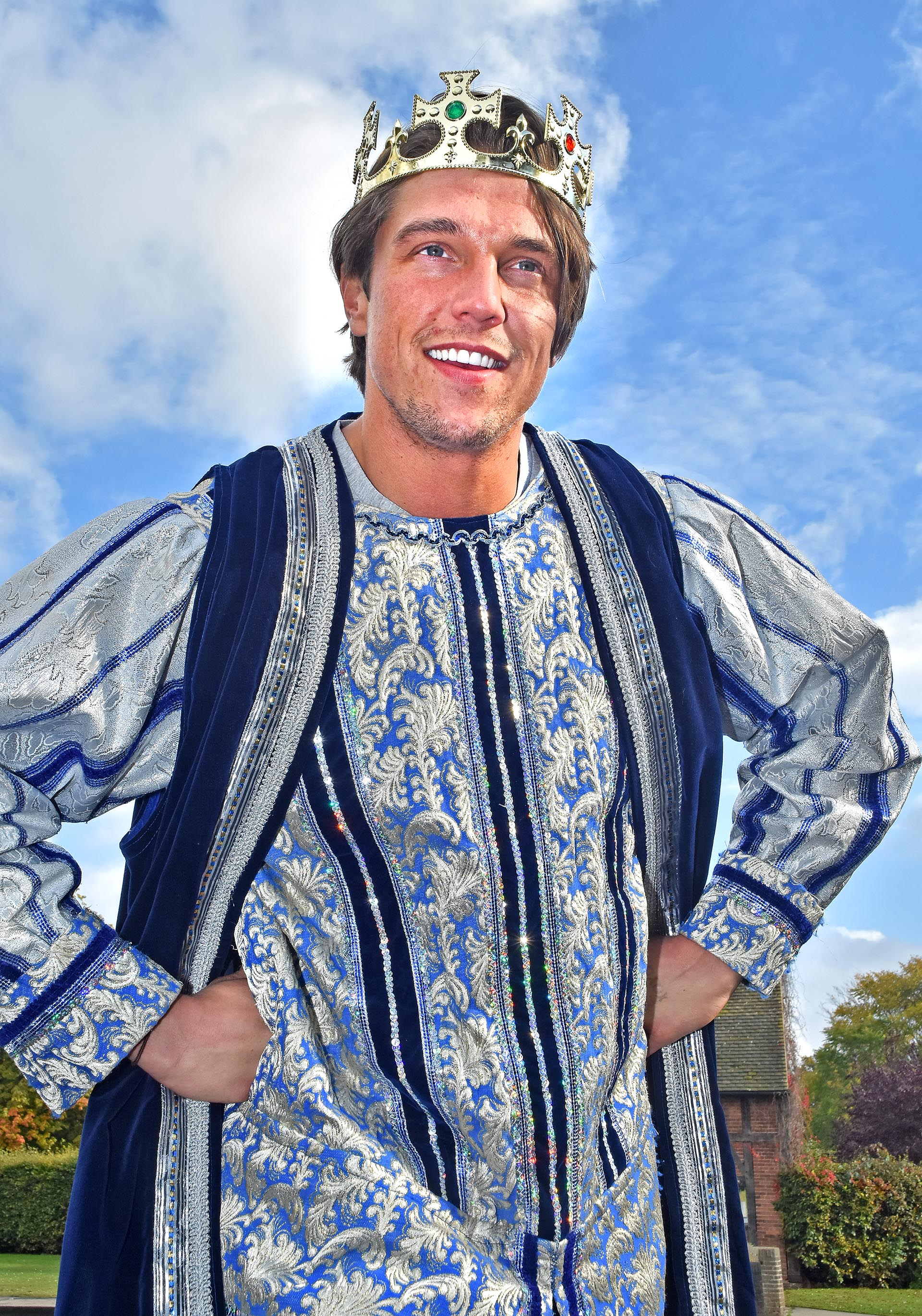 Lewis Bloor as King Willy the Umpteenth in Jack And The Beanstalk. Picture: Favid Harrison