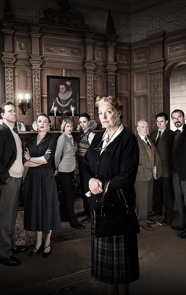 Louise Jameson, centre, will play Mrs Boyle in the 2016 tour ofThe Mousetrap