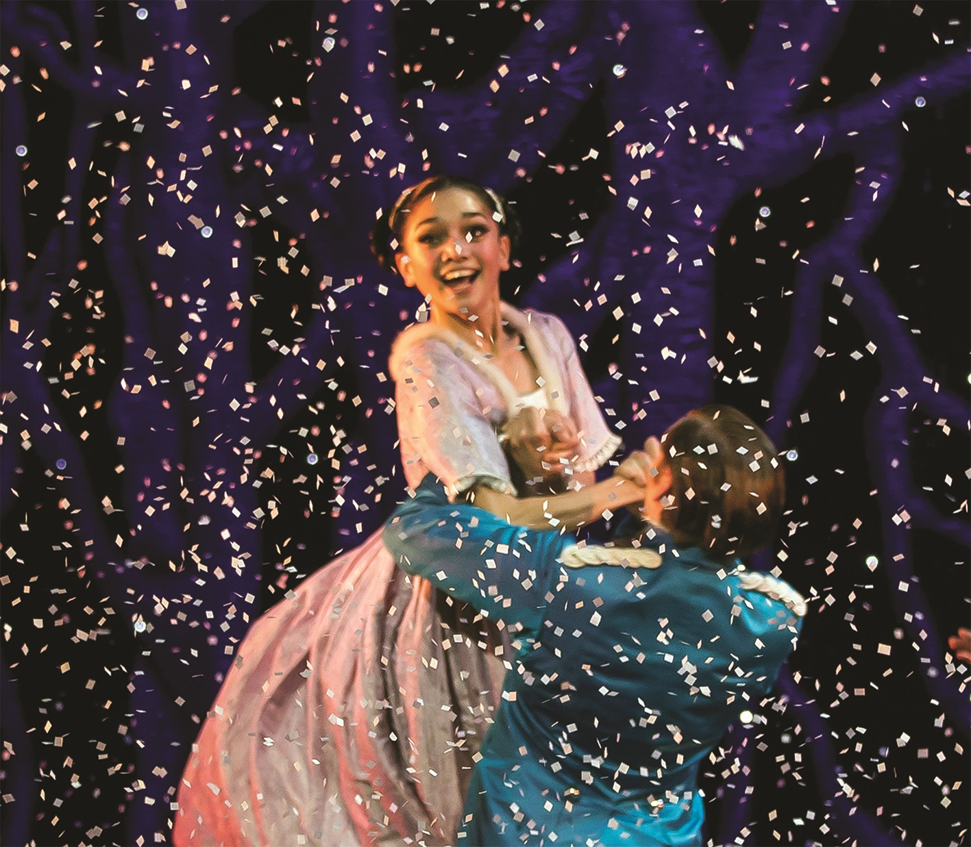 Rachael Gillespie as Clara and Ashley Dixon as the Nutcracker Prince in Northern Ballet's The Nutcracker