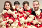 The Press advertising staff with the teddies for the York Hospital children's ward. Pictured are, from left, Sadie Patterson, Devon Page, Joe Pickard and Richard Duffy