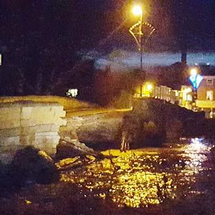 York Press: Tadcaster Bridge near York collapses following recent flooding.