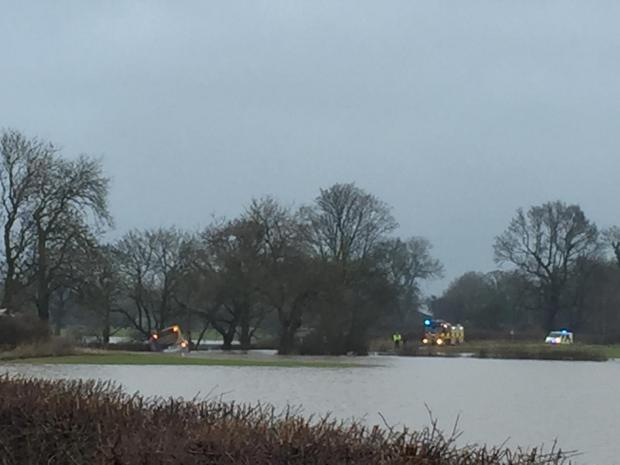 York Press: Bus stuck in flood