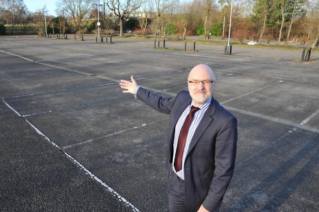 Richard Ludlow at the Askham Bar site which could become home to a new school for York.