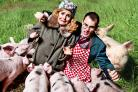 Principal players Toni Feetenby and Adam Sowter encounter pigs aplenty before Pick Me Up Theatre's Betty Blue Eyes