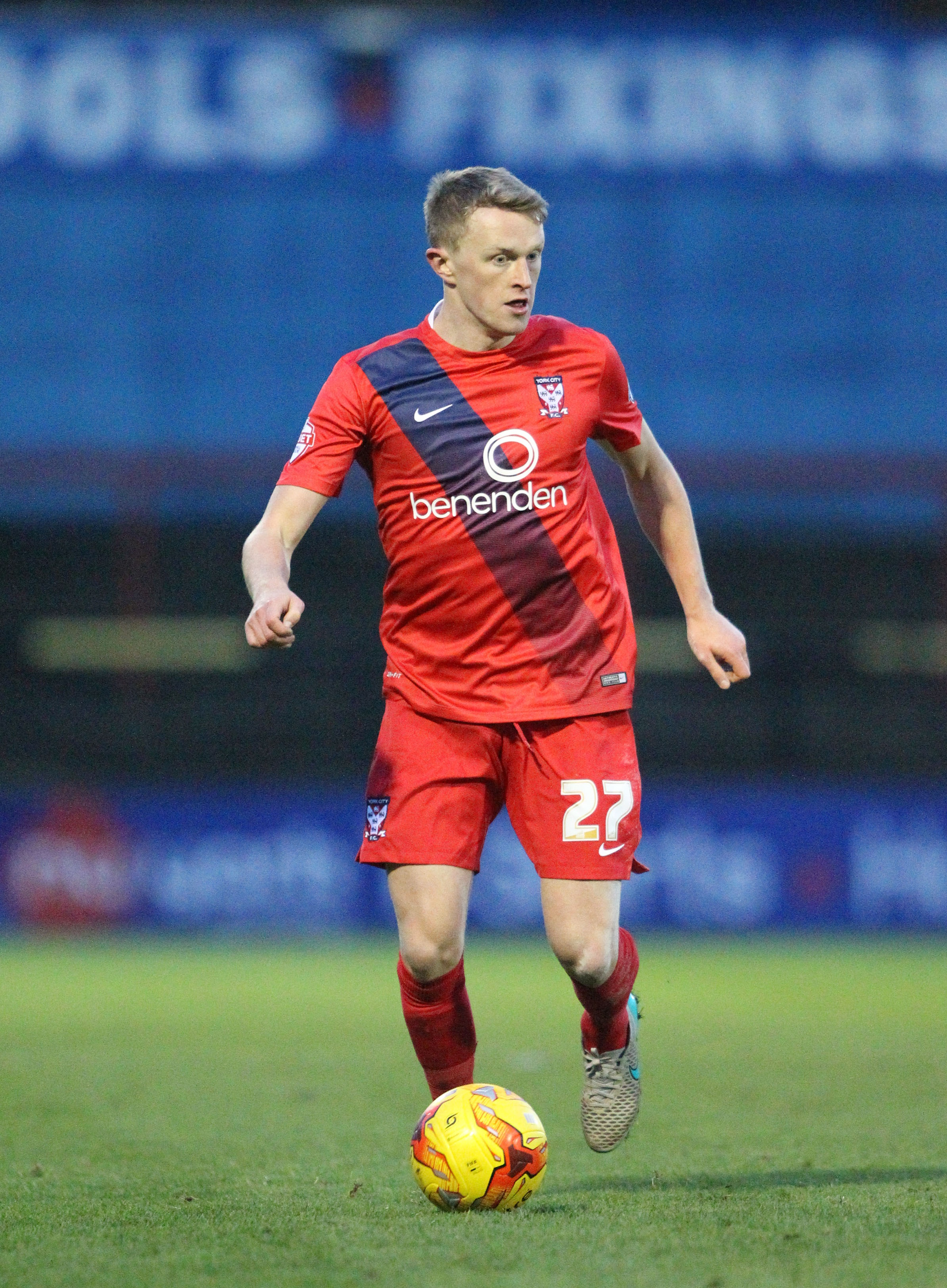 NEW DEAL: Luke Hendrie is staying at York City
