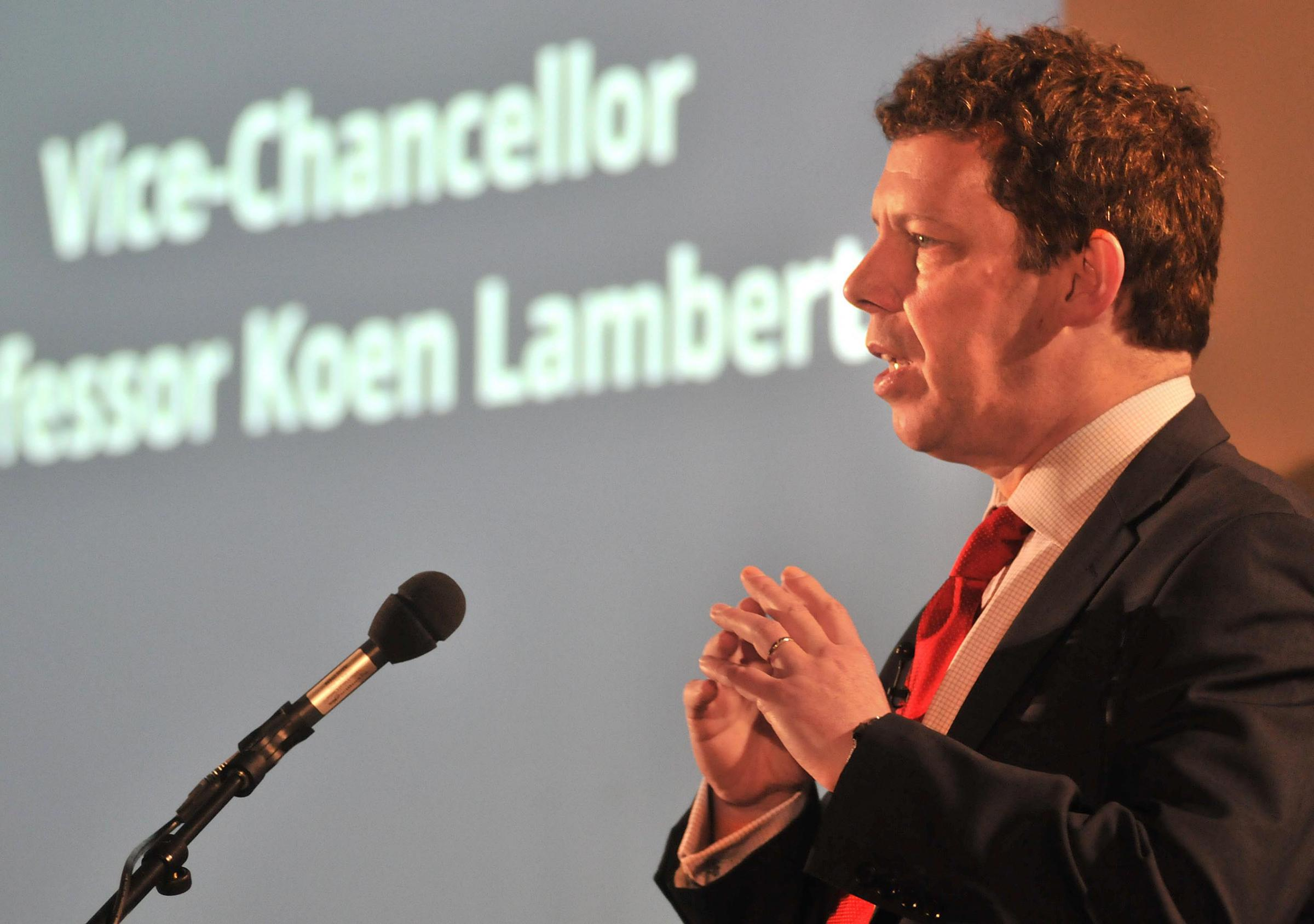 The new Vice-Chancellor of York University Professor Koen Lamberts speaking at the York Research Showcase on Wednesday. Picture David Harrison..