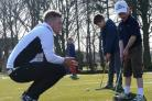 LISTEN CAREFULLY: Sandburn Hall golf manager Rob Heath instructs youngsters at a Sandburn Hall junior session last year