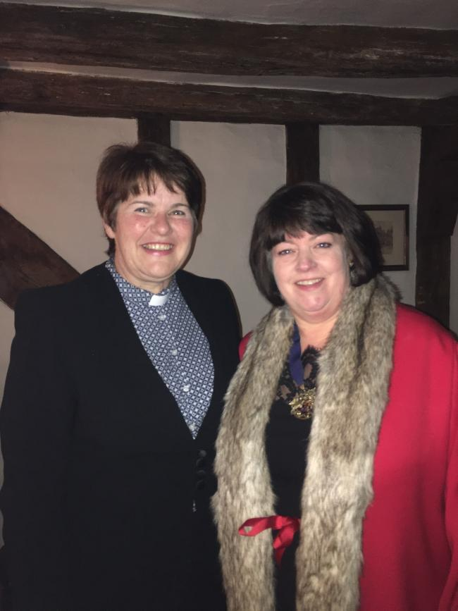 Sarah-Jane Trueman, pictured right with the Reverend Jane Nattrass