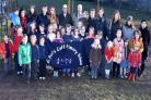 Staff , Pupils and parents at St Paul's School, Holgate who have launched a petition against dog fouling on their playing field    Picture Frank Dwyer. (55798977)
