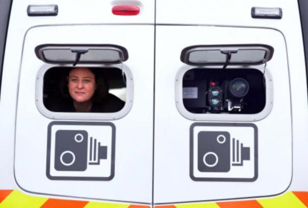 SPEED TRAP: Speed cameras have taken less in fines than expected: so does this mean they're working? North Yorkshire police and crime commissioner Julia Mulligan is pictured in a safety camera van